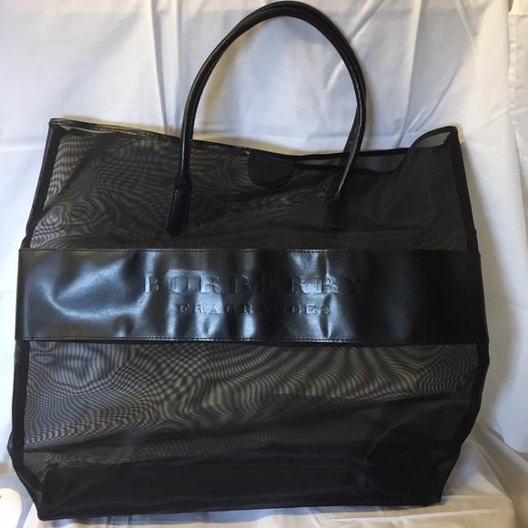 Burberry Handbags - Burberry Large Black Nylon Tote Bag f5ace9a08f77b